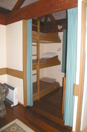 triple bunk room